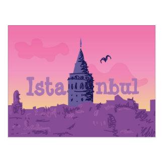 Postal colorida de Estambul