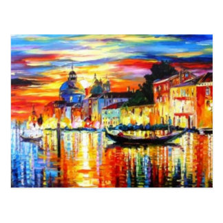 Postal colorida de Venecia