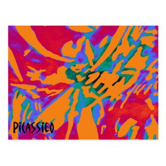 Postal colorida del arte abstracto de Flowerlike