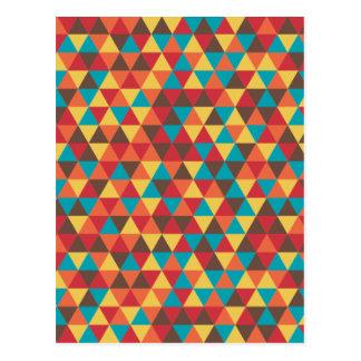 Postal Colorido triangular