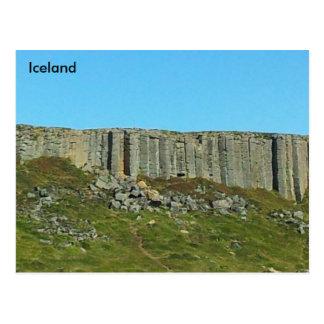 Postal Columnas del basalto de Gerðuberg, Snaefellsnes,