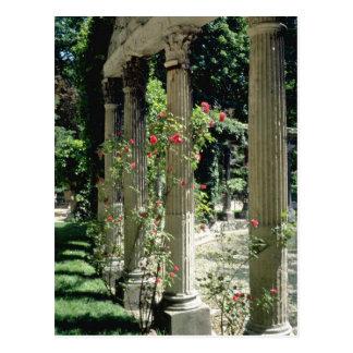 Postal Columnas y rosas blancos - Parc Monceau, flo de