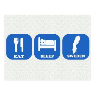Postal Coma el sueño Suecia