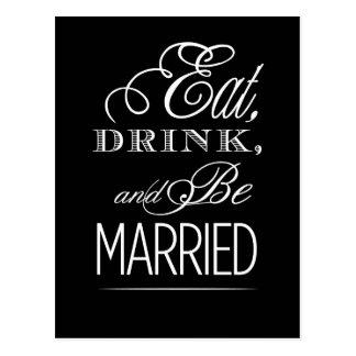 Postal Coma la bebida y esté casado
