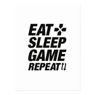 Postal Coma la repetición del juego del sueño