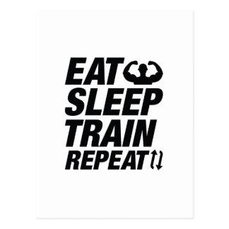 Postal Coma la repetición del tren del sueño