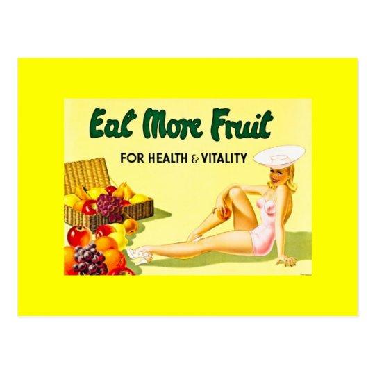 Postal Coma más fruta - los años 40 del anuncio Ca del