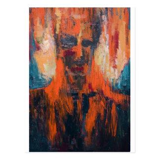 Postal Combustión humana espontánea (retrato abstracto)