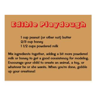 Postal comestible de Playdough