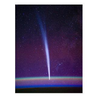 Postal Cometa Lovejoy cerca del horizonte de la tierra