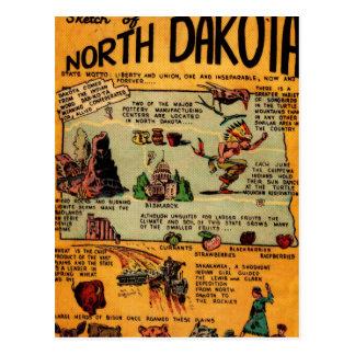 Postal Cómic de Dakota del Norte
