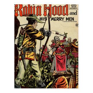 Postal Cómic de Robin Hood