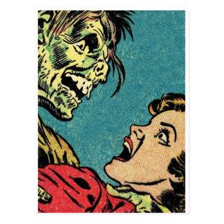 Postal cómic del vintage villan