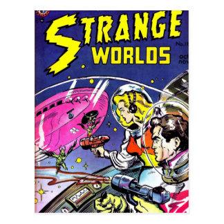 Postal Cómic extraño de los mundos