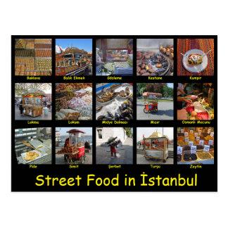 Postal Comida de la calle en Estambul