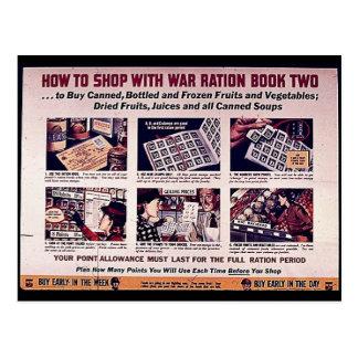 Postal Cómo hacer compras con el libro de ración de la