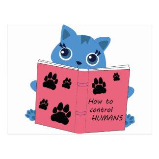 Postal cómo los gatos controlan a seres humanos
