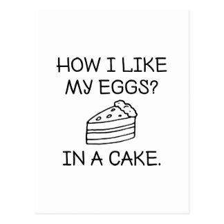 Postal Cómo tengo gusto de mis huevos