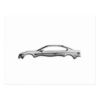 Postal Complemento del M3 3D del coche del carbono