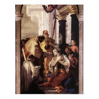 Postal Comunión pasada de Juan Tiepolo- de St Lucy