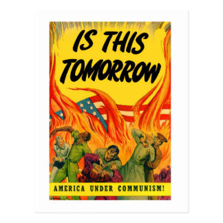 Postal ¡Comunismo retro de la propaganda del kitsch del