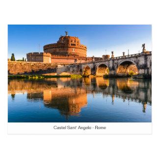 Postal con Castel Sant Ángel en Roma
