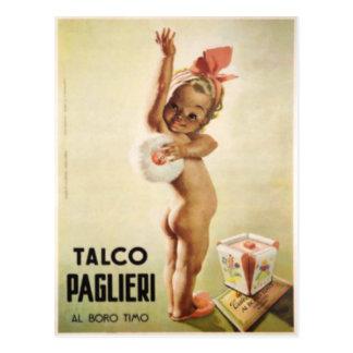 Postal con el bebé lindo en el poster del anuncio