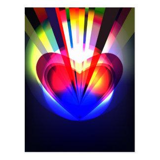 Postal con el corazón abstracto