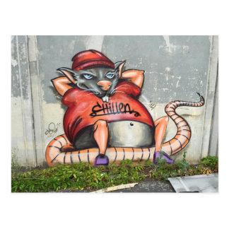 Postal con el ratón de refrigeración (pintada