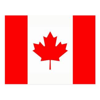 Postal con la bandera de Canadá