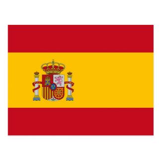 Postal con la bandera de España