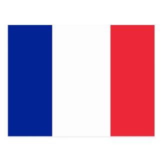 Postal con la bandera de Francia