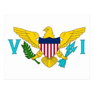 Postal con la bandera de las islas de Virgen los