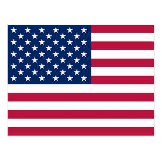 Postal con la bandera de los E.E.U.U.