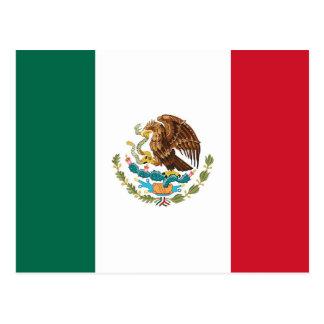 Postal con la bandera de México