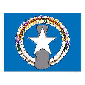 Postal con la bandera de Northern Mariana Islands