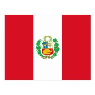 Postal con la bandera de Perú