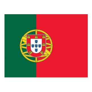 Postal con la bandera de Portugal