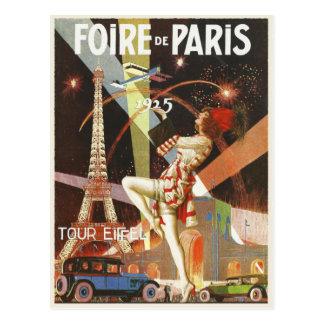 Postal con la impresión del art déco de París de