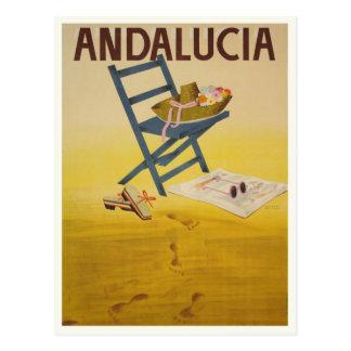 Postal con la impresión del vintage de España