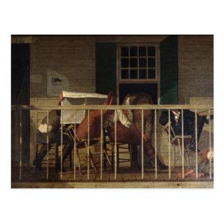 Postal con la pintura de madera de Enoch Perry