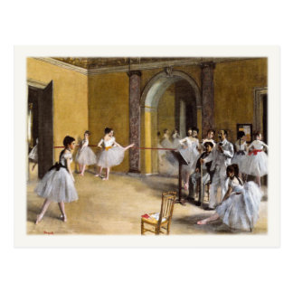 Postal con la pintura famosa del ballet