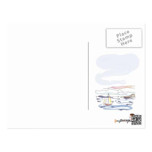 """Postal con poema """"EL MAR"""" de Rafael Alberti"""