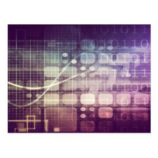 Postal Concepto abstracto futurista en tecnología
