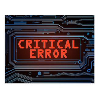 Postal Concepto del error crítico