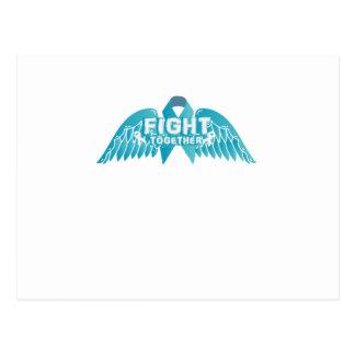 Postal Conciencia del cáncer ovárico de la ayuda de