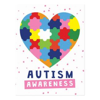 Postal conciencia rosada del autismo