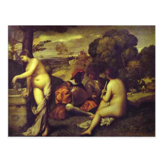 Postal Concierto Champetre por Titian