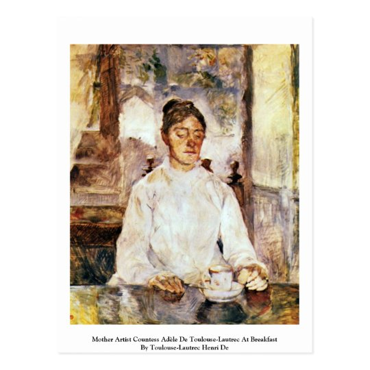 Postal Condesa Adèle De Toulouse-Lautrec del artista de