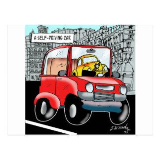 Postal Conducción del dibujo animado 9308